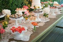 Party Tables....candy, cookies, snacks and much more! / by Viviana Mares