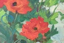 Poppy Paintings by Colorado Artist Laura Reilly / We all love poppies - their vibrant, joyful lushness - they just make you happy!