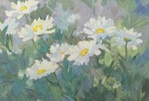 Contemporary Floral Paintings by Colorado Artist Laura Reilly / the zesty life of nature's beautiful blooms - with a little surprise here and there!