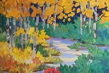 Aspen Tree Paintings by Colorado Artist Laura Reilly / Original paintings celebrating the unique beauty of aspens in all seasons.  www.laurareilly.com