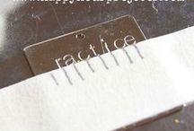 DIY ~ Metal Stamping