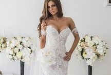 Engaged Brides in Designer Wedding Dresses - DARIUS USA / As custom dress makers (who are located in the USA) we can produce wedding dresses like anyone of the items shown below.  You can make any change you need.  All sizes are welcome!  For more information go to www.DariusCordell.com  EMAIL:pinterest@dariuscordell.com