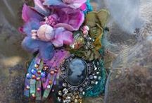 Brooch ~ Beaded & Stitched / by Anne Davies
