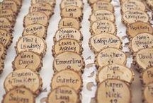 Weddings: Place Cards-Seating Charts / Interesting, fun , whimsical and traditional ways to seat your guests.