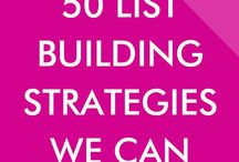List Building Tips & Email Marketing / This is a board focused on list building tips, email marketing, and increasing your subscribers!