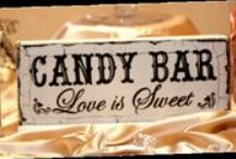 Party Ideas : Candy Bars  / Candy Bars are a fun edition to desert tables at all events.