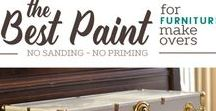 Paint - Tips & Ideas / Get started painting furniture and projects with these great paint tips and ideas. How to use chalk paint. DIY tips to distress furniture, tips on what paint to use and more.