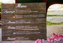 Menu Ideas / wedding, menu displays, decorations, menu ideas, food, drinks / by On the Go Bride