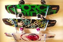 Wakeboarding & Wakeboard Racks / Wakeboard storage and display racks! Show off your wakeboards as art and decoration when you're not using them. Home design solutions incorporating your wakeboards, too.