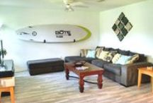 Paddleboard (SUP) Storage and Design Solutions / How do you store your paddleboard? We've ideas for everything from functional garage storage solutions to decorative, indoor home display racks. Art, decoration, storage, display and more.