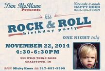 Rock & Roll Birthday Party Ideas / Rock & Roll party ideas for children