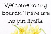Welcome to all! NO PIN LIMITS! / I hope you enjoy many of the recipes I have pinned to my boards. Leave messages and Pin Away! And a BIG THANK YOU for following me.