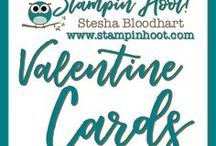Valentines / Love Cards / Valentine Cards and Paper Crafts made by Stampin' Hoot! with Stampin' Up! Products. Stesha Bloodhart http://www.stampinup.net/esuite/home/stampinhoot/