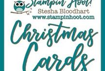 Christmas / Holiday Cards / Christmas / Holiday Cards and Paper Crafts made by Stampin' Hoot! with Stampin' Up! Products. Stesha Bloodhart http://www.stampinup.net/esuite/home/stampinhoot/ Invite