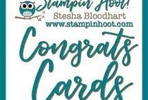 Congratulation Cards / Congratulations Cards and Paper Crafts made by Stampin' Hoot! with Stampin' Up! Products. Stesha Bloodhart http://www.stampinup.net/esuite/home/stampinhoot/ Invite