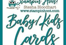 Baby and Kids Cards / Baby and Kids Cards and Paper Crafts made by Stampin' Hoot! with Stampin' Up! Products. Stesha Bloodhart http://www.stampinup.net/esuite/home/stampinhoot/ Invite