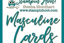 Masculine Cards / Masculine Cards and Paper Crafts made by Stampin' Hoot! with Stampin' Up! Products. Stesha Bloodhart http://www.stampinup.net/esuite/home/stampinhoot/ Invite