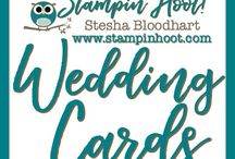 Wedding & Anniversary Cards / Wedding Cards and Paper Crafts made by Stampin' Hoot! with Stampin' Up! Products. Stesha Bloodhart http://www.stampinup.net/esuite/home/stampinhoot/