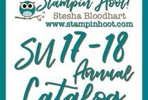 Stampin' Up! 2017-2018 Annual Catalog / Paper Craft Creations using products from the Stampin' Up!  2017-2018 Annual Catalog. Cardmaking, Stamping, Scrapbooking, Die Cuts and 3-D Projects made by Stesha Bloodhart.  www.stampinhoot.com In the US? Shop with Me!