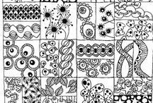 zentangles, doodling