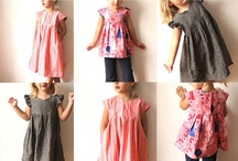 Girl sewing projects