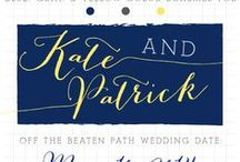 the Shades of Blue, Yellow, & Gray / For Patrick & Kate! Let this pinterest board inspire you to find all the perfect colors for your Off The Beaten Path Wedding.