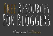 """ Resources For Bloggers / The best FREE resources for bloggers. Printables, guides, tutorials, and more to help blog better. Now including monthly financial and status reports of real blogs."