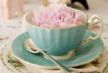mood board / coffee, morning, flowers, peony, roses, food, drink, tea