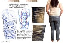 Clothing/Fabric / A collection of clothing and fabrics showing shape, lighting and folds for drawing reference