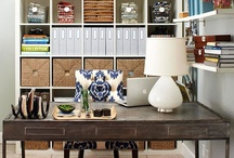 Offices: Furniture + Organization / What home isn't complete without a home office? It's important to balance your work life balance when considering your office decor. Here are some pins to help.