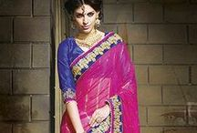 Exquisite Embroidered Party wear Sarees