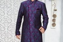 Eid special - Silk Embroidered Festival Kurta from www.sareez.com