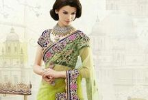 Eid special - Net Embroidered sarees from www.sareez.com