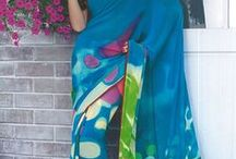Monsoon Fiesta - casual printed sarees from www.sareez.com