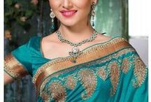 Party And Wedding Saree Collection / More : http://goo.gl/NHfUz9
