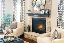 Mantles + Fireplaces / Create a comfy, cozy spot to cuddle up by the fire with these fireplace ideas and styling mantle tricks.