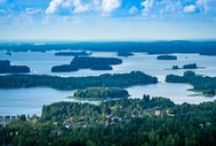 Lakeland - Finland / A blue labyrinth of lakes, islands, rivers and canals, interspersed with forests and ridges, stretching for hundreds of kilometres in a placid and staggeringly beautiful expanse. Welcome to the largest lake district in Europe. This is Finnish Lakeland. / by Visit Finland