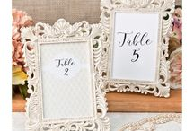 Wedding reception - table numbers