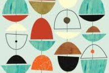 Mid-Century Modern Patterns and Prints / We love vintage MCM patterns and prints