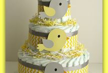 Diaper cake for little G