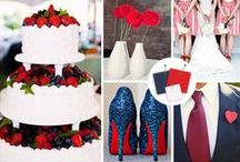 July 4th Wedding Ideas / A 4th of July wedding is more than red, white and blue. There are fun ways to incorporate our nation's birthday that include a boat ride on Lake Michigan, apple pie and fireworks.