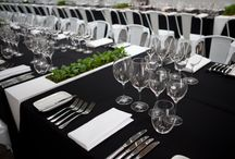 Wedding Ideas - Centrepieces and Flowers / Ideas for your wedding; flowers, chairs, linen, stationary,  marquee interior, lighting, crockery, cutlery, glassware, and furniture