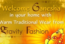 Celebrate Ganesh Chaturthi with Ethnic wear / Celebrate Ganesh Chaturthi with Gravity-Fashion and get FLAT 15% Discount on SAREES and  MENS KURTA PYJAMA. Use Voucher Code : MOURYA15 . VISIT NOW - www.gravity-fashion.com/