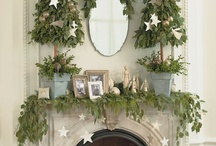 Holidays: Christmas Mantels / Inspiring Christmas Mantels / by At The Picket Fence