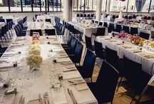 Aerial, South Wharf, Melbourne / Located in South Wharf, Aerial is a purpose built events venue by food&desire. Aerial will host celebratory dinners, engagement parties, weddings, ceremonies and just wait till you see the views! Melbourne's skyline, just remarkable!  #aerial #foodanddesire