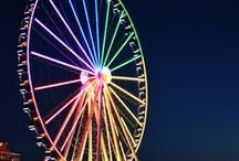"""Ferris Wheels Around the World / In celebration of my short story """"The Fire Eater's Daughter"""" featured in the Summer Love Anthology by Duet Books (http://www.duetbooks.com/summer-love/)"""