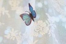 Butterfly Cottage ஐ / Come and  join me for a cup of tea among sweet fluttering friends in soft hues of blue, lavender, and pinks.  Let go of the cares of the day, relax, and just enjoy the beauty that surrounds us. You may just get butterfly kissed ❤
