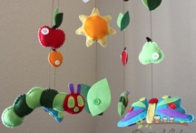 Baby Mobiles, nursery decor, children's room decor, name decor / lots of felt / by Deborah Sullivan