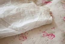 Fabrics & Textiles / faded florals, ticking stripes, quilts and vintage linens