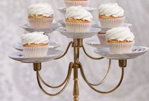 Cake & Cupcake Stands / Tier and single cake and cup cake stands.  / by Marilyn (Freeland)  Taylor